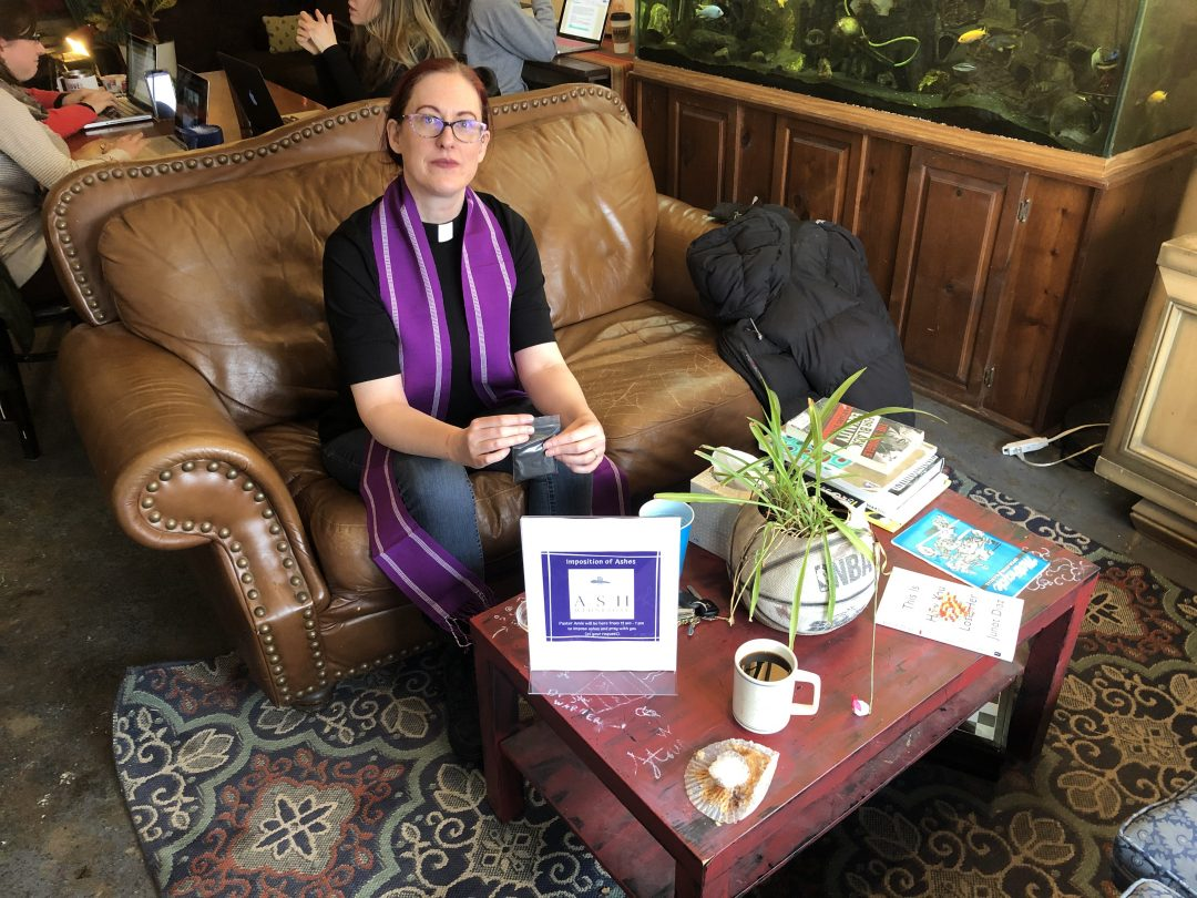 Amie Vanderford, the pastor of The LabOratory Church, a new faith community that provides healing for those with mental illness in Indianapolis.